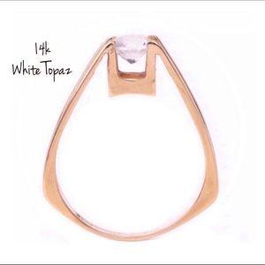 14k Topaz Ring Vintage  SALE